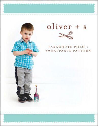 Oliver S Boys Sewing Pattern Parachute Polo /& Sweat P... Free UK P/&P
