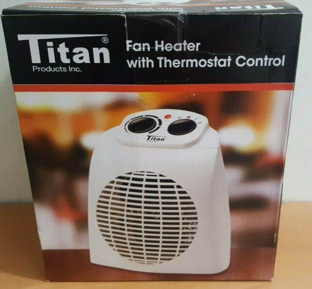 Fan Space Heater Thermostat Control Titan With Overheat Protection For Sale Online Ebay