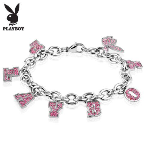 Bracelet Playboy charms strass roses
