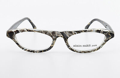Alain Mikli Parigi Occhiali 2160 Col. 2013 Vintage Cat Eye Frame Grey Black Size S-mostra Il Titolo Originale