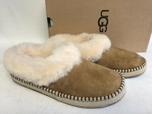 c59bbe52797 Details about Ugg Australia Wrin Slippers Sheepskin Cuff 1007727 Chestnut  sizes House Shoes