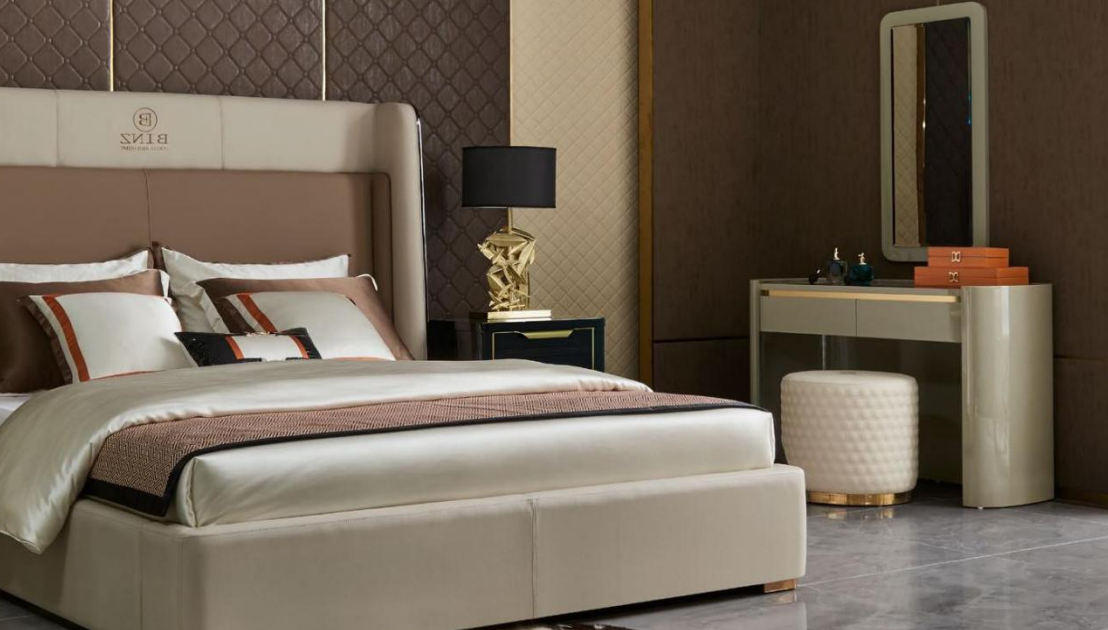 Lujo espejo tocador taburete conjunto completo cómoda dormitorio nuevo consola
