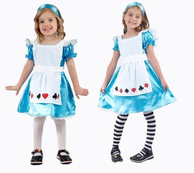Girls Alice in Wonderland Storybook Fancy Dress Costume World Book Week Kids