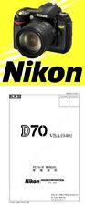 Nikon D70 DSLR Camera Service Repair Manual