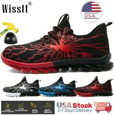 New Listingmens Mesh Work Safety Tactical Shoes Boots Sports Casual Steel Toe Hiker Sneaker