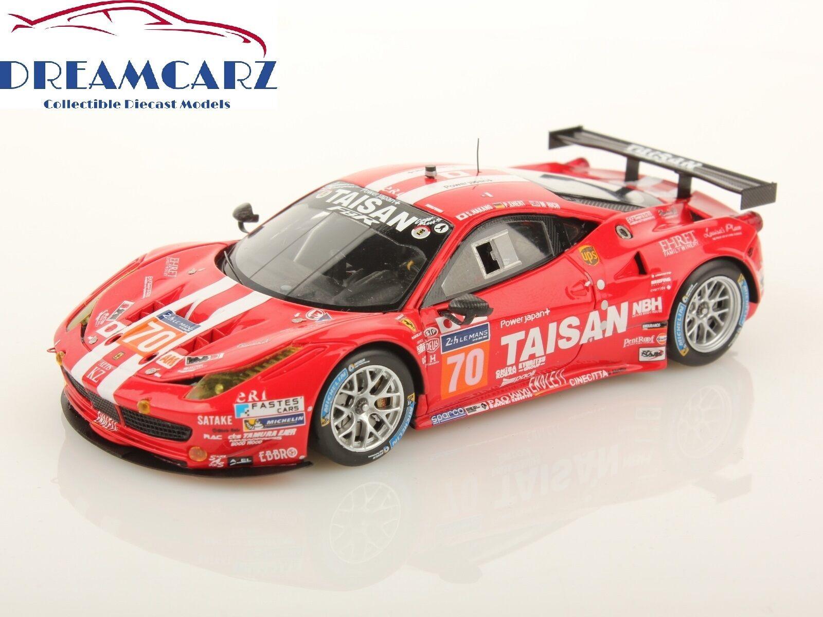 LOOKSMART LSLM 04 1 43 FERRARI 458 GTE TEAM TAISAN  70 Le Mans 2014