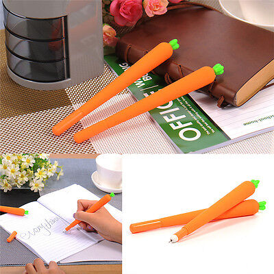 1PC Cute Carrot Ball Point Pen Ballpoint Creative Stationery Student Office