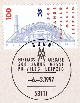 Brd 1997: Leipziger Messeprivileg Nr 1905 Mit Bonner Ersttagsstempel! 1a! 1906