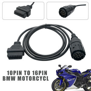 Motorcycles-For-BMW-10PIN-TO-16PIN-OBDII-OBD2-DIAGNOSTIC-CABLE-CONVERTER-ADAPTOR