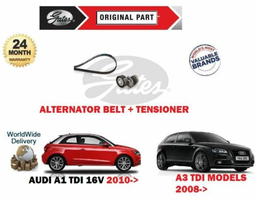 TENSIONER KIT FOR AUDI A1 A3 1.6 TDi 2.0 TDi 16V NEW ALTERNATOR FAN BELT