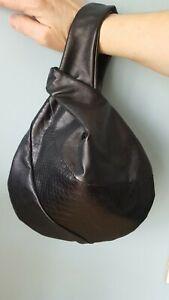 Black Pouch Lot stijl Grab Volledig gratis Asos Wrist Job gevoerde Bag Kimono Pp X 10 W2HIED9