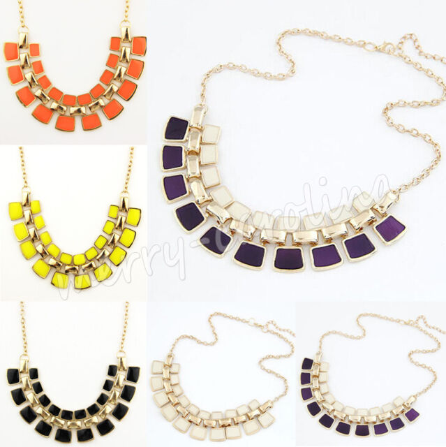 New Fashion Charm Jewelry Crystal Choker Chunky Statement Bib Pendant Necklace