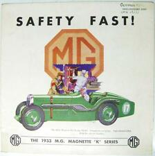 MG Magnette K Series Original Car Sales Brochure Oct 1932