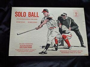 VINTAGE 1968 Solo Ball! Solitaire Baseball Card Game. RARE! Excellent Condition!