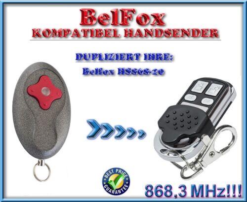 868,3Mhz KLONE ERSATZ fernbedienung Belfox HS-868-20 kompatibel handsender