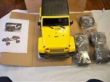 RC 1/10 Rubicon Wrangler 4x4 Short wheel Base Truck (Yellow Body)