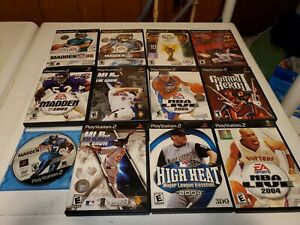 Ps2-Sport-Lovers-Game-Lot-of-12-Games-Madden-MLB-FIFA-NBA-11-With-Manuals-Tested