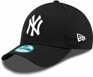 e31022b031e New Era 9FORTY MLB New York Yankees NY Logo Black Curved Peak Hat ...