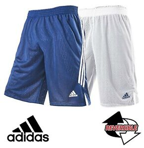 Image is loading adidas-Mens-Boys-Reversible-Basketball-Shorts-Navy-White-