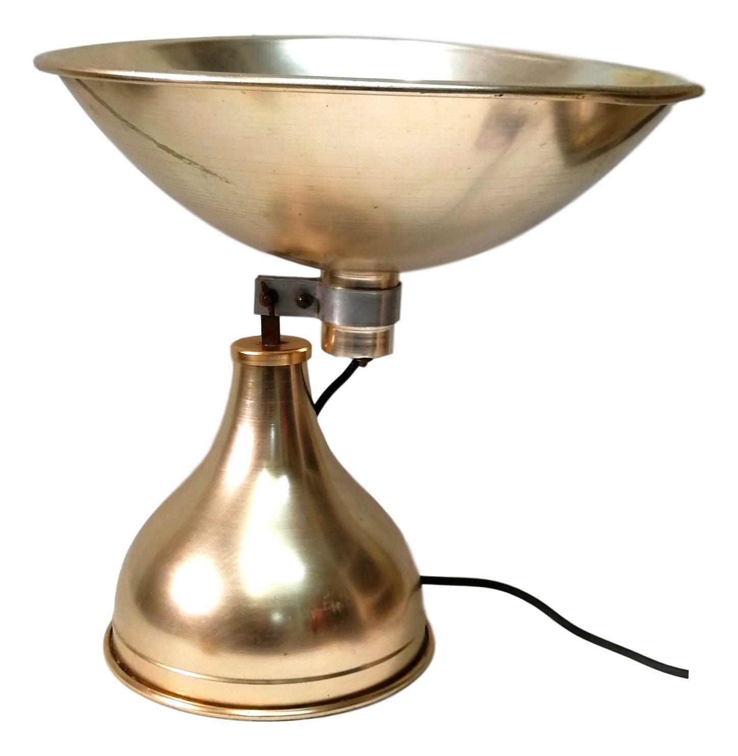 Tischleuchte Alu A Schüssel 60er Jahre Vintage Lampe Leuchte Modern Design