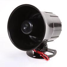 DC 12V Siren Horn Car Auto VAN Truck Loud Speaker PA 15W Electric Sound Alarm