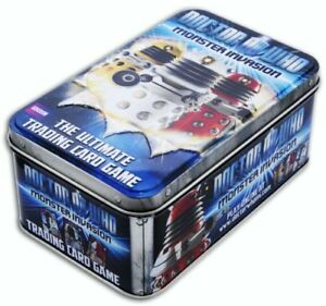 10 x Doctor Who Monster Invasion Trading Card Game DALEK Tins - BRAND NEW SEALED