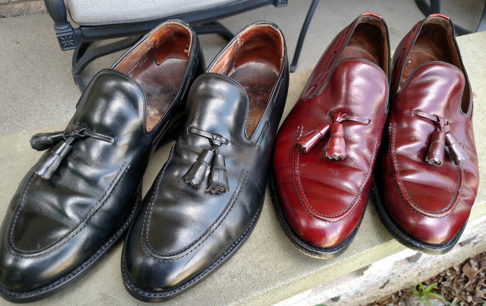 Zapatos De Vestir 2 par Allen Edmonds Saratoga Borla Sin Cordones Talla Para hombres 10 C