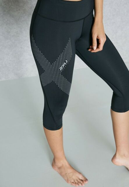 2XU Womens Mid Rise 7//8 Compression TightsSlate//Limelight