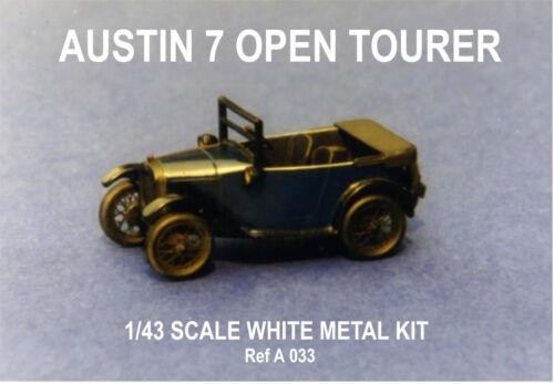 white metal model to assemble and paint Austin 7 Open tourer sports car kit