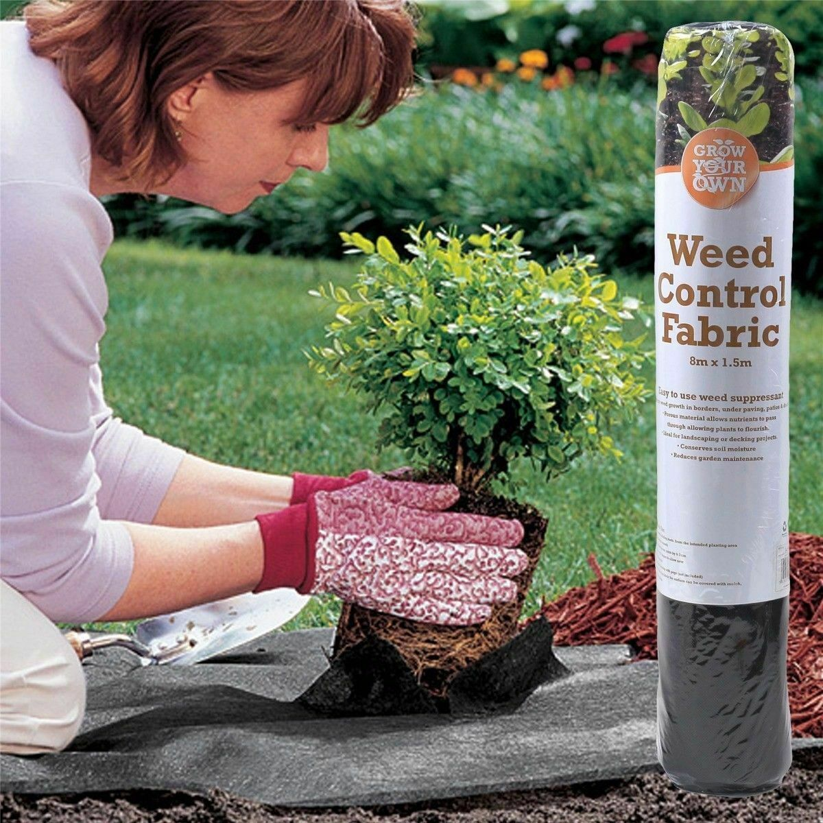 Garden Weed Control Fabric Membrane Ground Sheet Cover Decking Landscaping