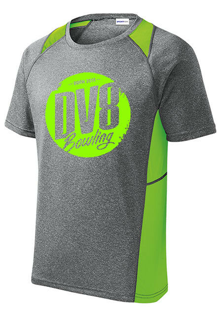 DV8 Men's Outrage Bowling Performance Shirt Heather Lime Green