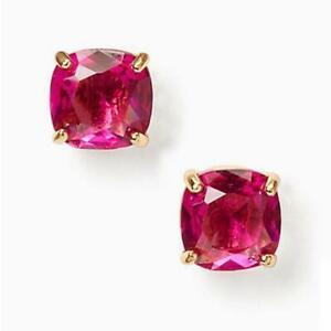 86530f782 KATE SPADE Mini Small Square Stud Earrings Fuchsia Pink WBRUD847 NWT ...