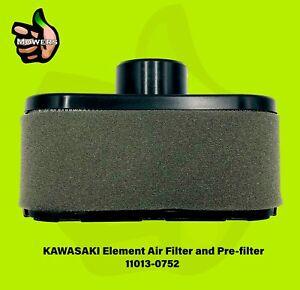 Kawasaki Air Filter 11013-0752 And Pre Filter 11013-7046