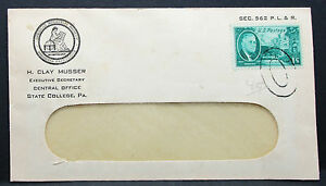 US-Adv-Cover-Musser-American-Philatelic-Society-Roosevelt-Stamp-USA-Brief-H-7410