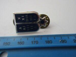 Original US Army Collar Badge Rank Pin Jewish Chaplain Law Jüd Kaplan Regulation