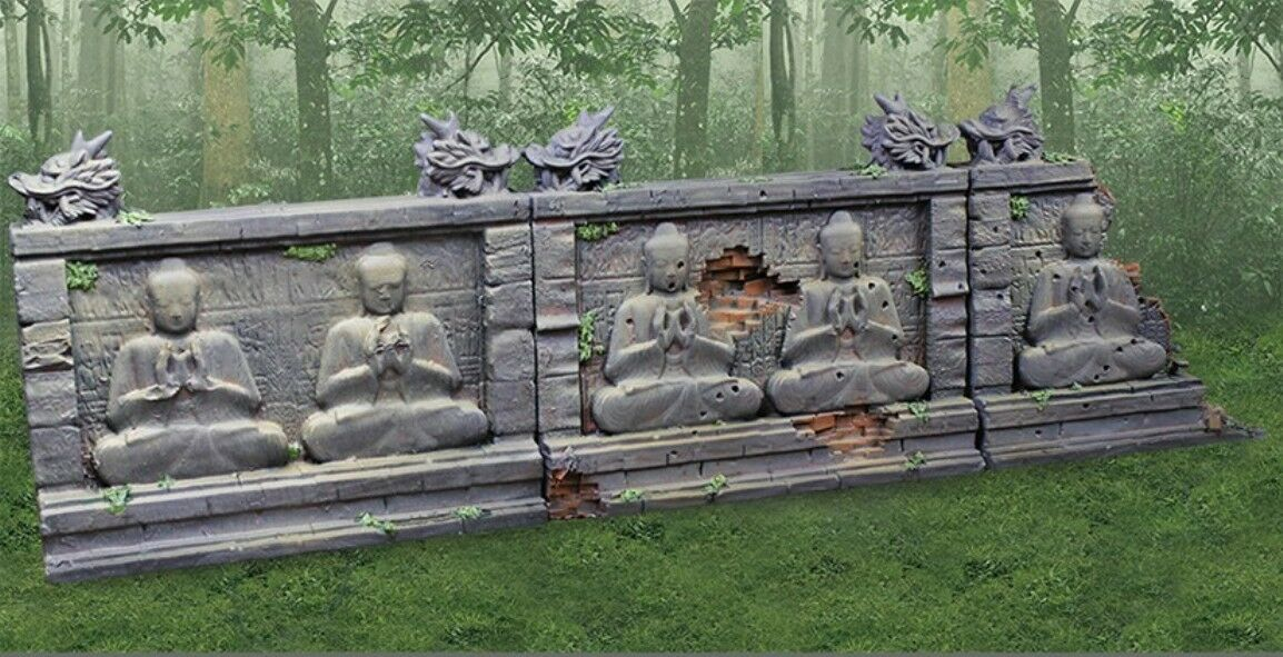 COLLECTORS SHOWCASE VIETNAM WAR CSBUDWALL-01 THREE SECTION BUDDHA WALL SET MIB