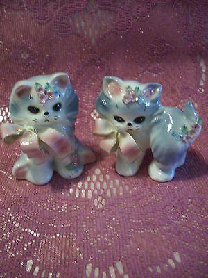 VTG Josef Puff & Fluff Kitty Cat Kitten w/ ALL Original Tags Figurine Set EX