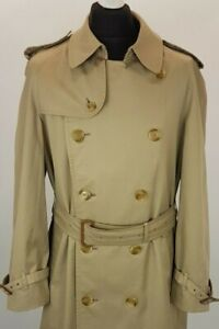 BURBERRY-Trench-Coat-Double-Boutonnage-Hommes-Taille-UK-44-US-44-trench-impermeable
