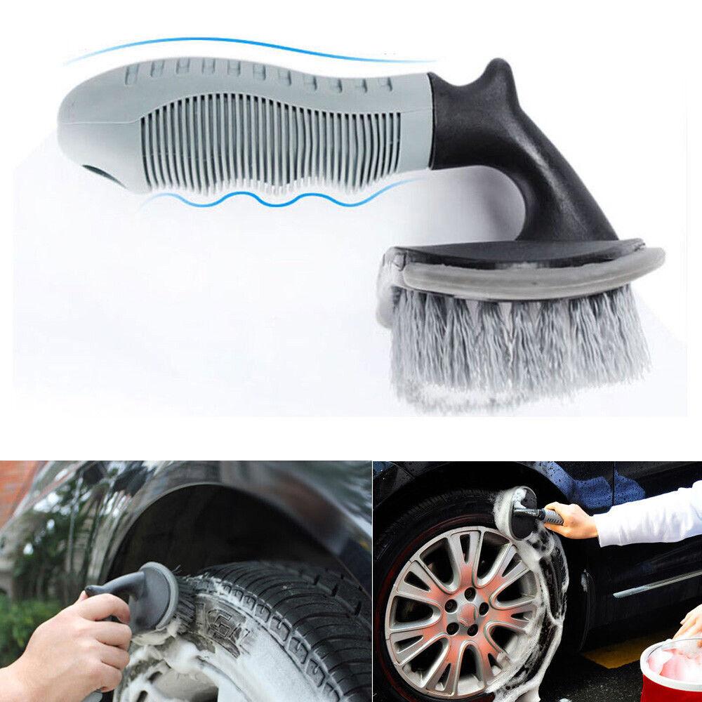 """6PCS 18/"""" Car Wheel Brush Rim Cleaning Tire Brush Soft Bristle Car Wheel Brush"""