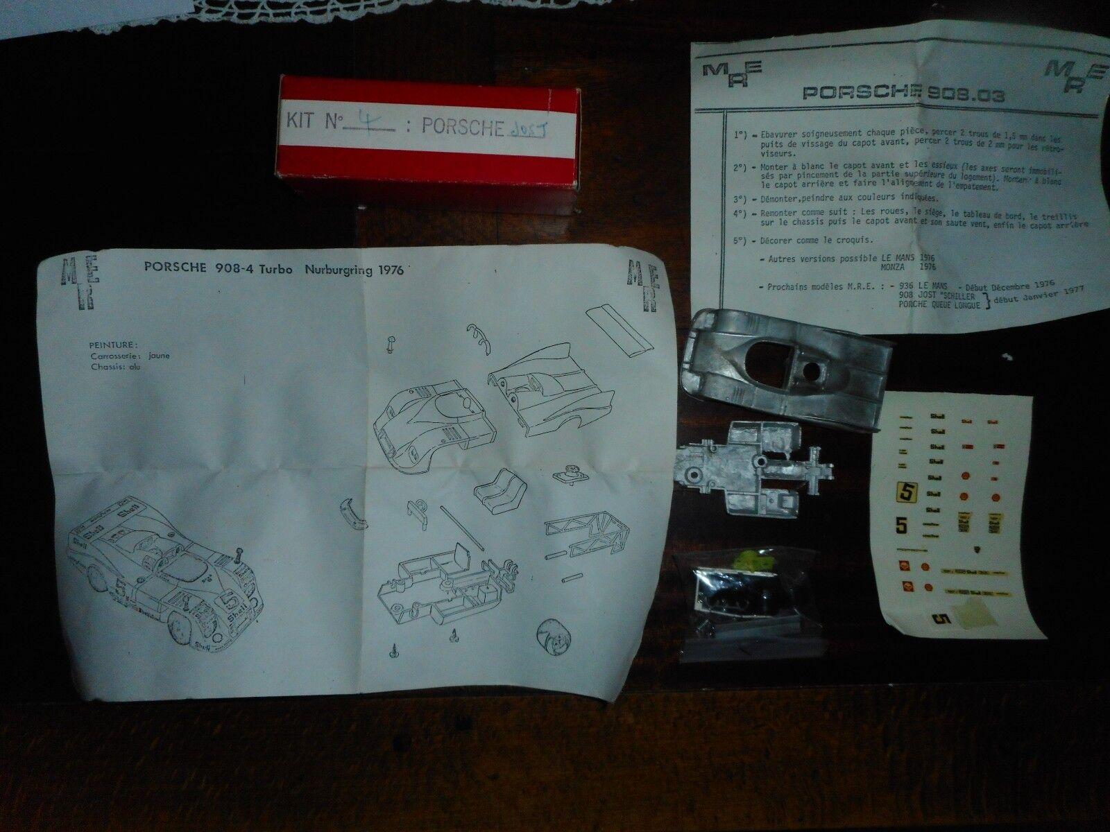 PORCHE 908 4 TURBO NURBURGRING 1976 kit vintage  MRE 1 43 métal