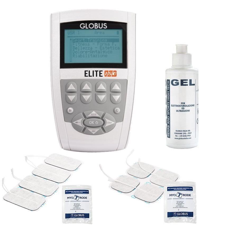 GLOBUS ELITE 150 elettrostimolatore con GEL e 8 elettrodi in OMAGGIO