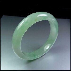 【KOOJADE】Icy Emerald Light Green Jadeite Bangle Bracelet《56mm》《Grade A》
