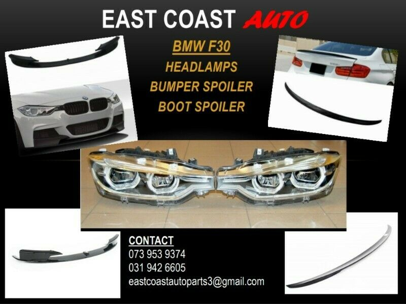 BMW F30 HEADLAMPS AND SPOILERS