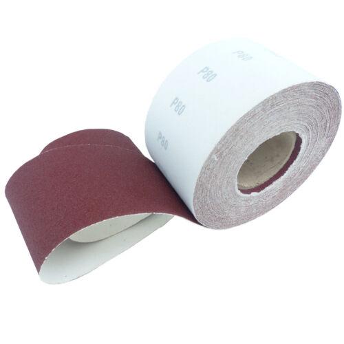 100 m schleifrolle Velcro rôles Papier abrasif P 40-240 schleifpapaier