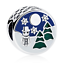 NEW-European-Snowman-Christmas-tree-Pendant-Charm-Beads-Fit-Necklace-Bracelet miniature 1