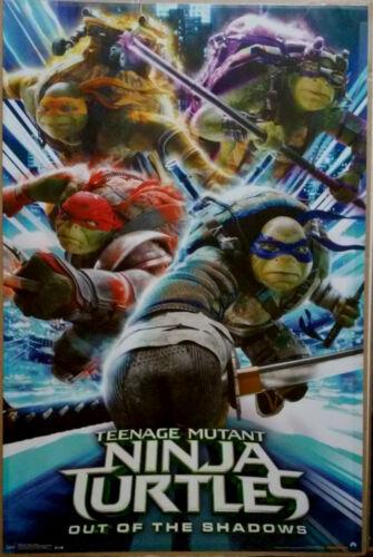 "TEENAGE MUTANT NINJA TURTLES 2 Movie Wall Poster 22/"" x 34/"" NEW Rolled"