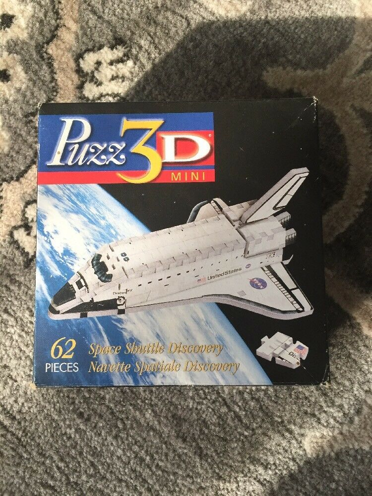 Puzz 3D Mini Space Shuttle Discovery And Fire Engine