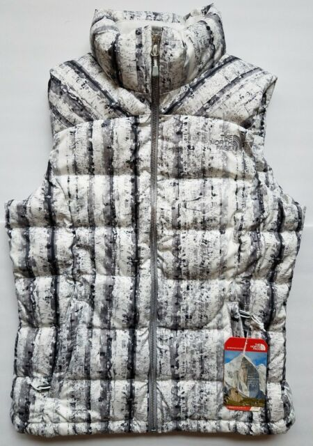 0753f37fd9b The North Face Nuptse 2 Puffer Vest Women Size XS White Birch Goose Down NEW
