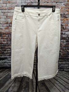 LANE-BRYANT-WHITE-GLAMOUR-X-DENIM-18-Crop-Wide-Leg-CAPRI-PANTS-NEW-Plus