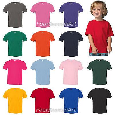 Rabbit Skins Toddler Fine Jersey T Shirt Tee 3321 Sizes 2T 3T 4T 5//6 Boys Girls